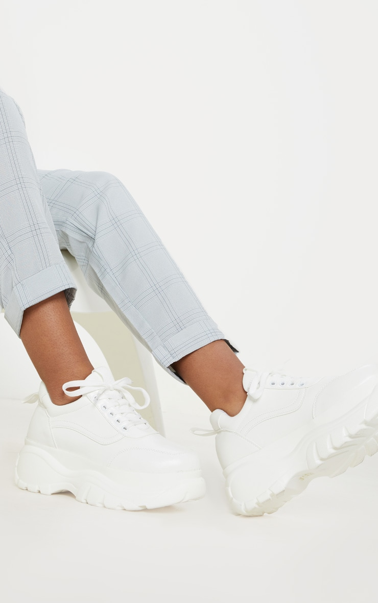 White Chunky Platform Sneakers 2