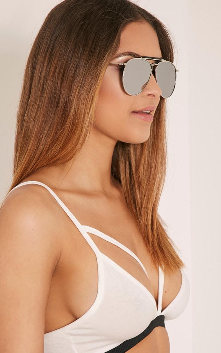 Rae Silver Frame Aviator Sunglasses 1
