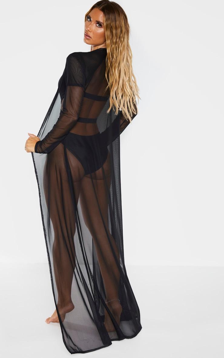 Black Mesh Kimono 3