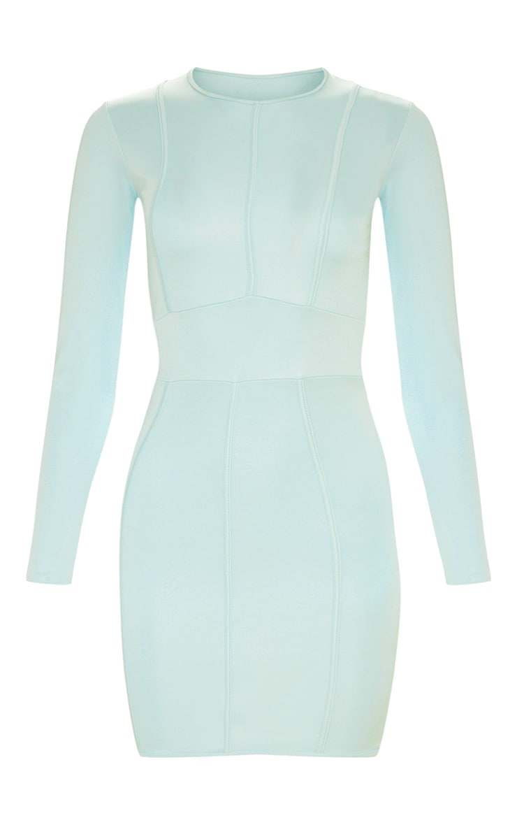Aqua Second Skin Binding Detail Bodycon Dress 3