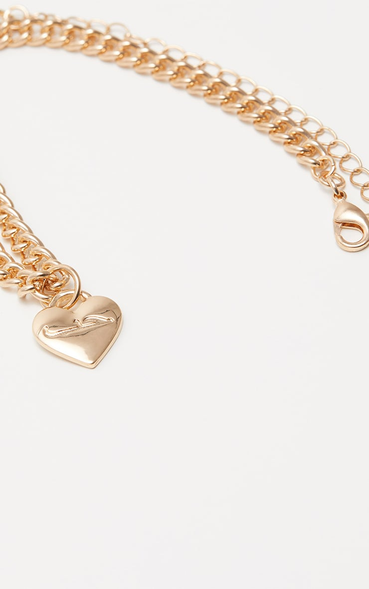 Gold Script Love Heart Anklet 3