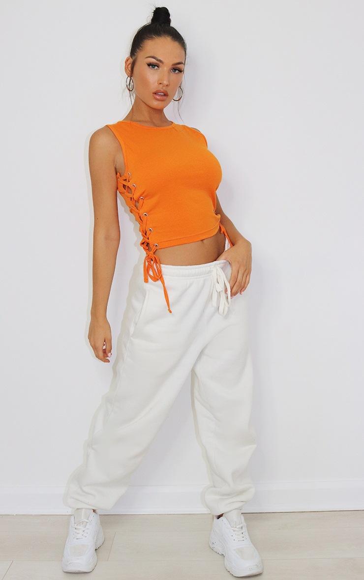 Orange Lace Up Side Vest 3