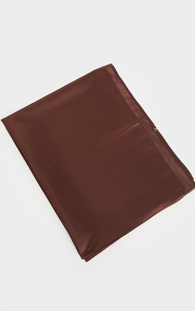 Chocolate Satin Head Scarf 2