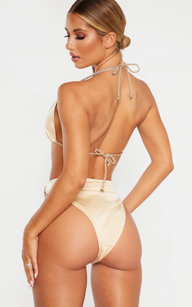 Nude Strappy Rope Bikini Top 2