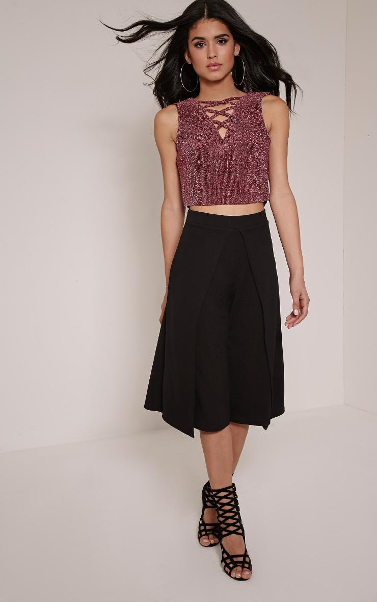 Esmay Black Layered Culottes 1