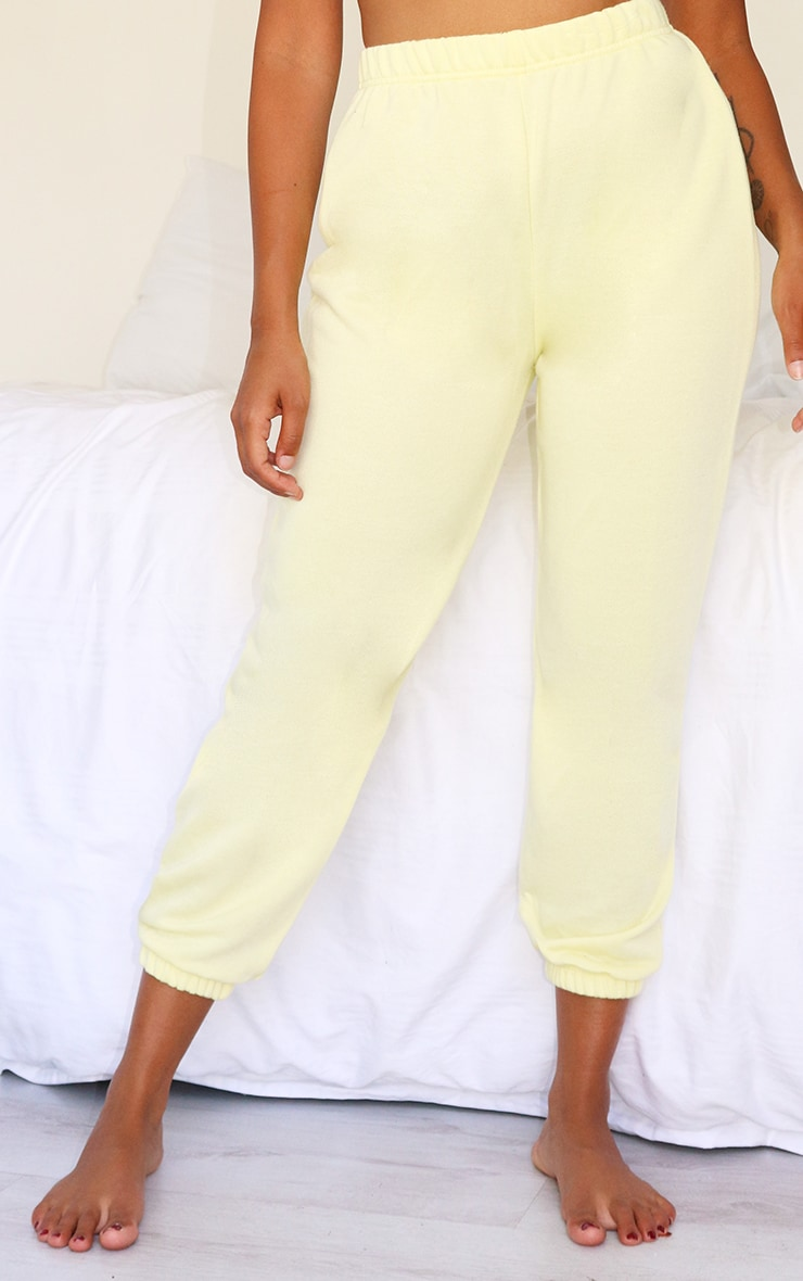 Petite Yellow Lemon Basic Cuffed Hem Jogger 2