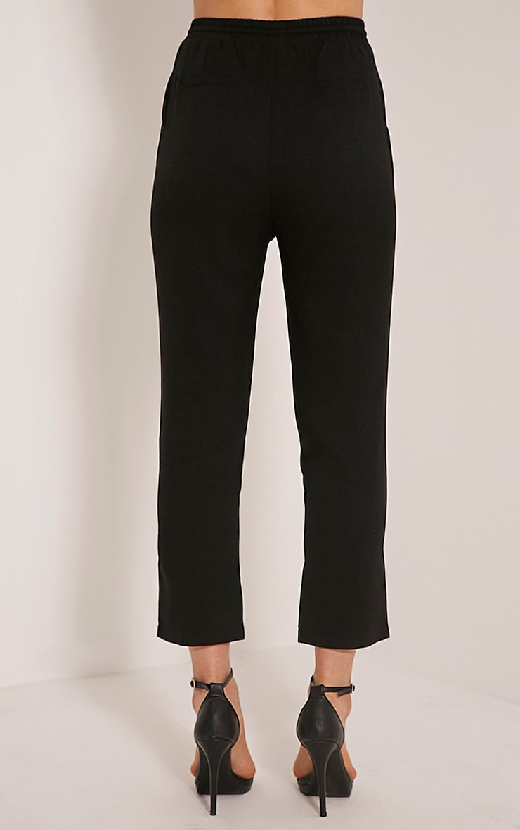 Diya Black Cropped Pants 5