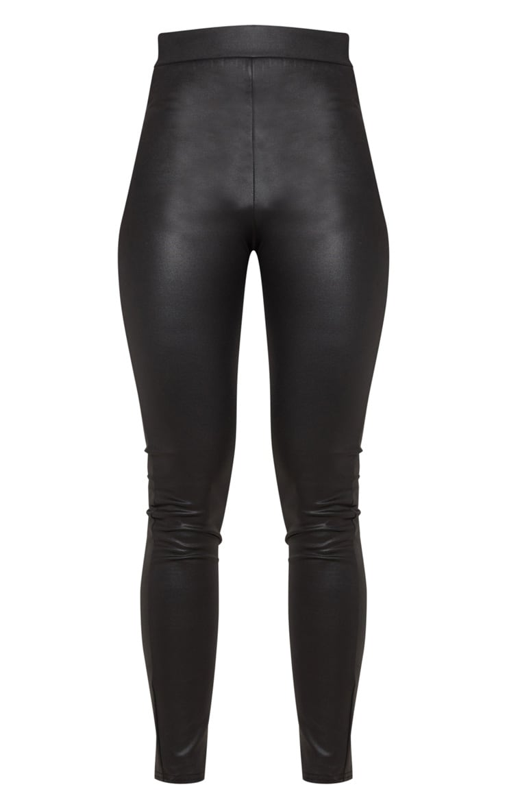 Black Wet Look Skinny Trouser 3