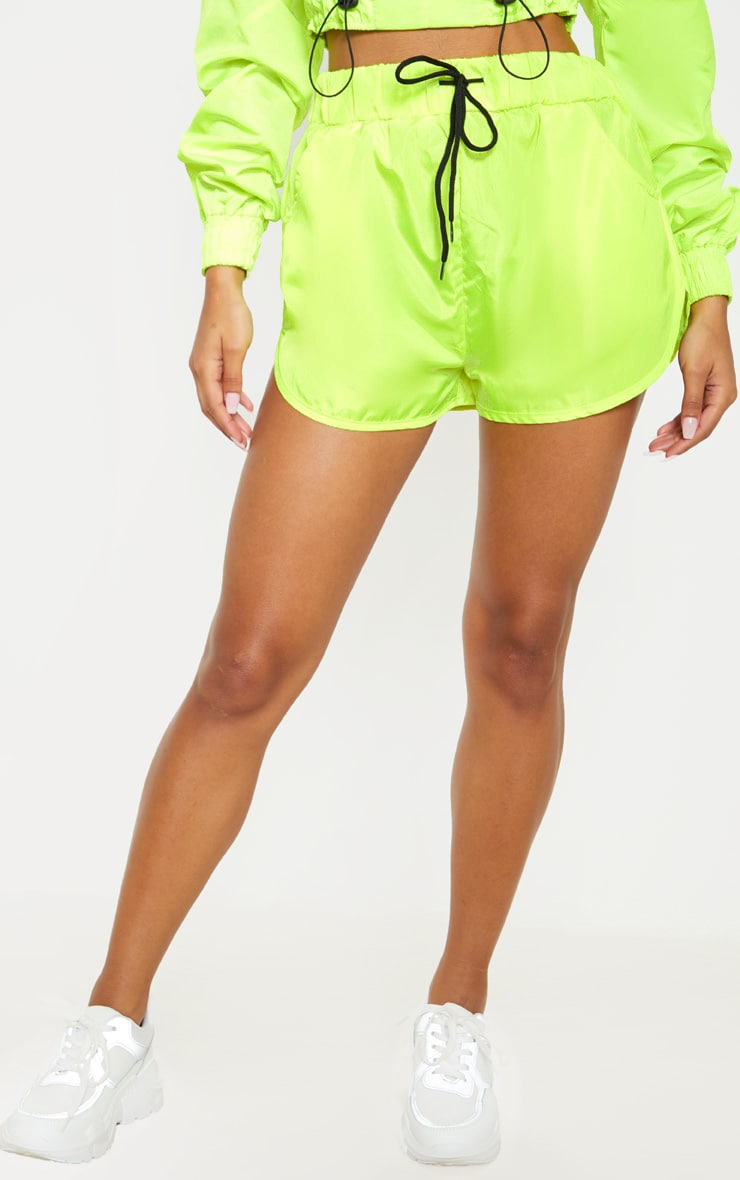 Lime Shell Pocket Detail Runner Short 2