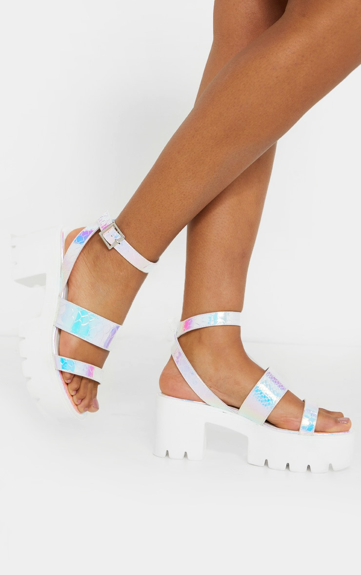 Holographic Chunky Sandals 2