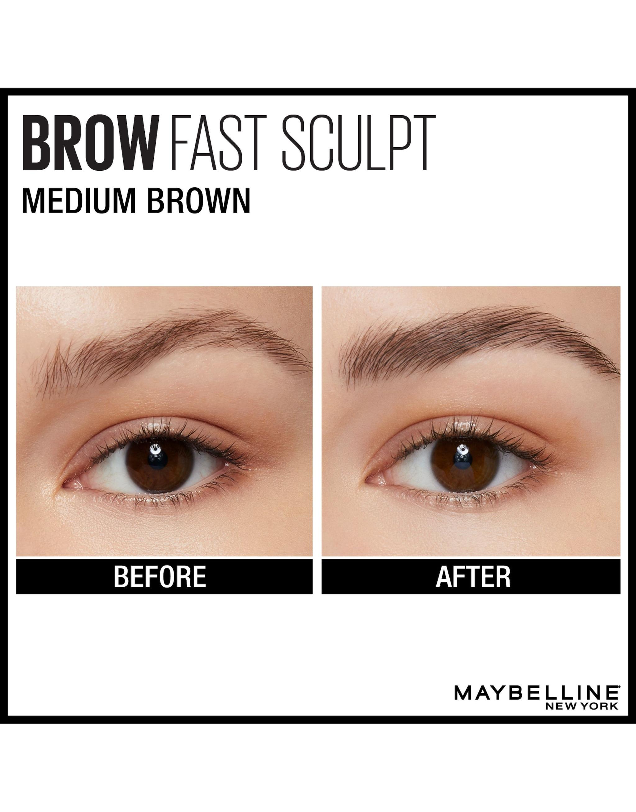 Maybelline Brow Fast Sculpt Eyebrow Gel 04 Medium Brown 2