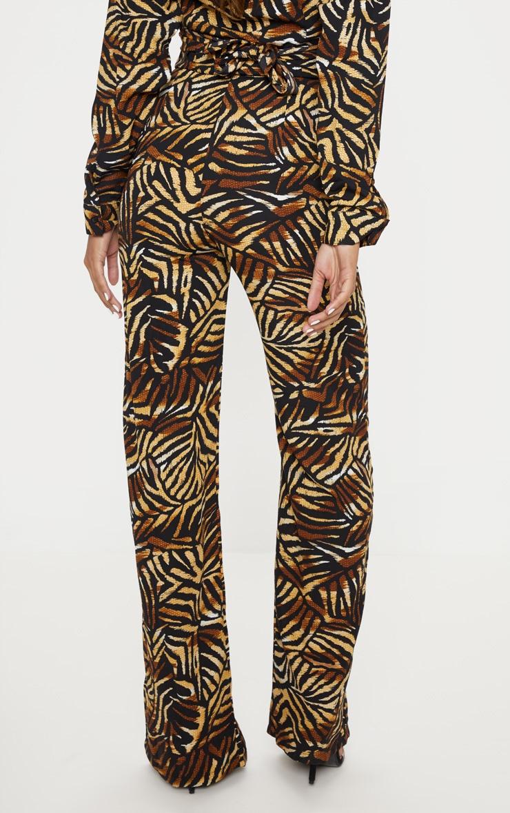 Multi Leaf Print Wide Leg Trouser 4
