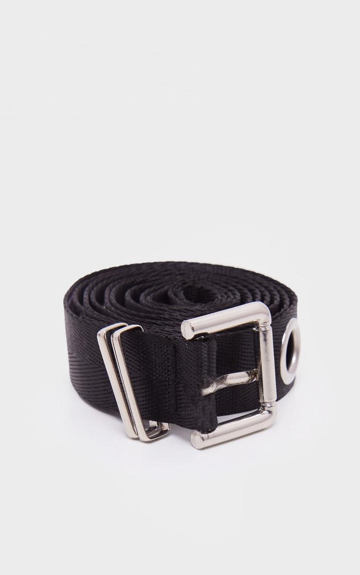 Longue ceinture noire à oeillets  2