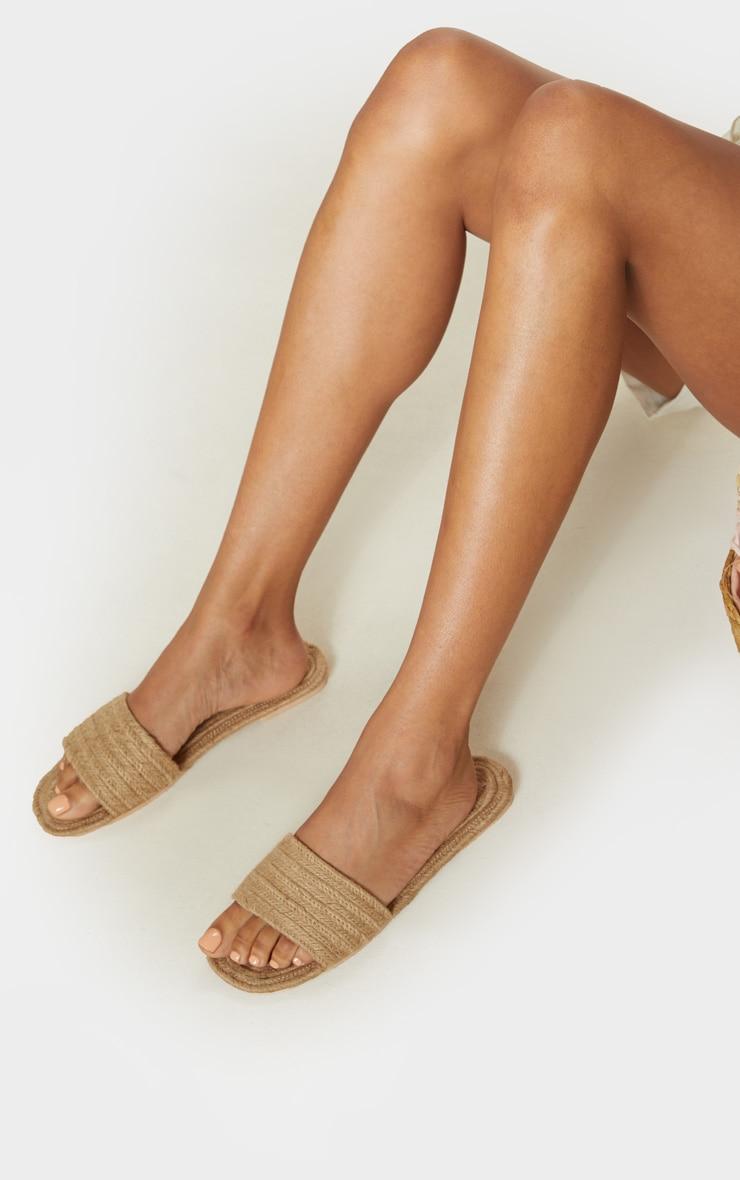 Natural Espadrille Mule Sandal 2