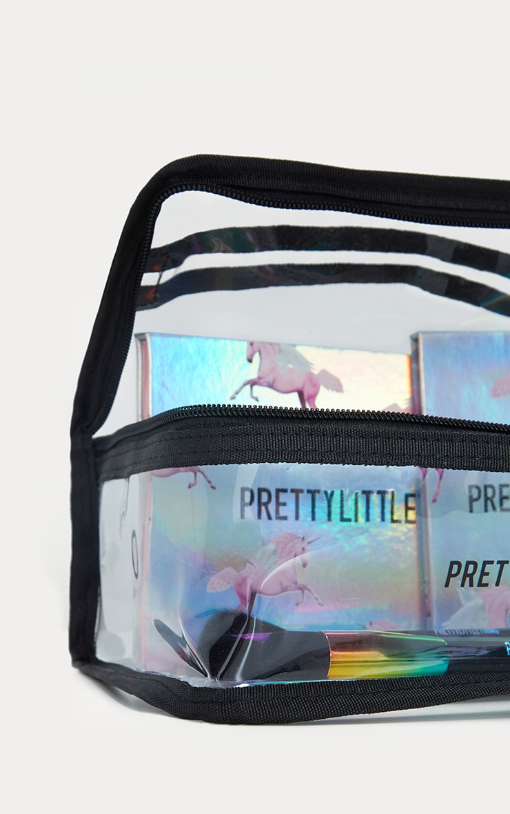 PRETTYLITTLETHING Large Transparent Cosmetic Bag 5