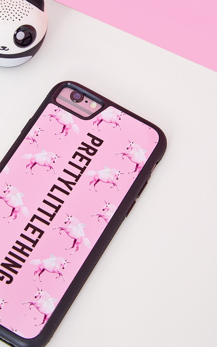 PRETTYLITTLETHING Unicorn Pink iPhone Case 8 2
