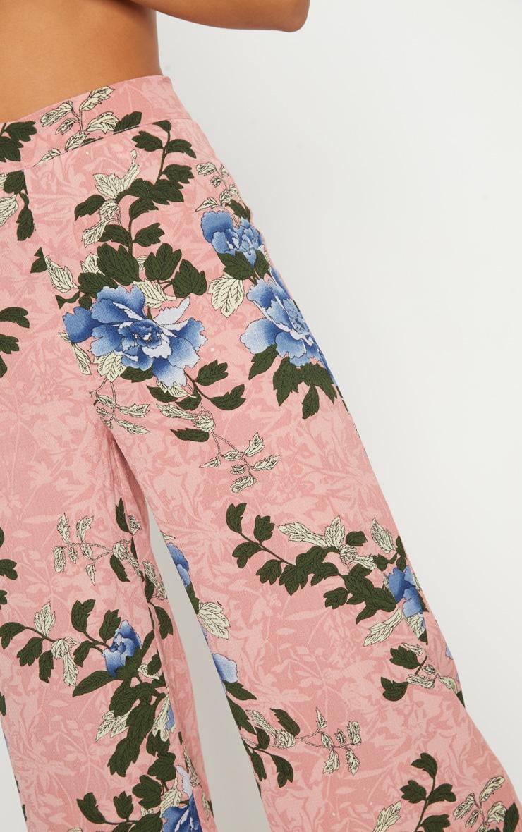 Pink Floral Printed Culotte 5
