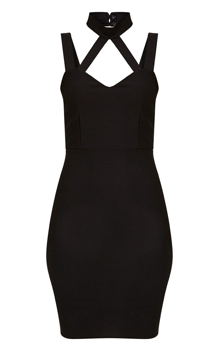 Alsah Black Strap Detail Bodycon Dress 3