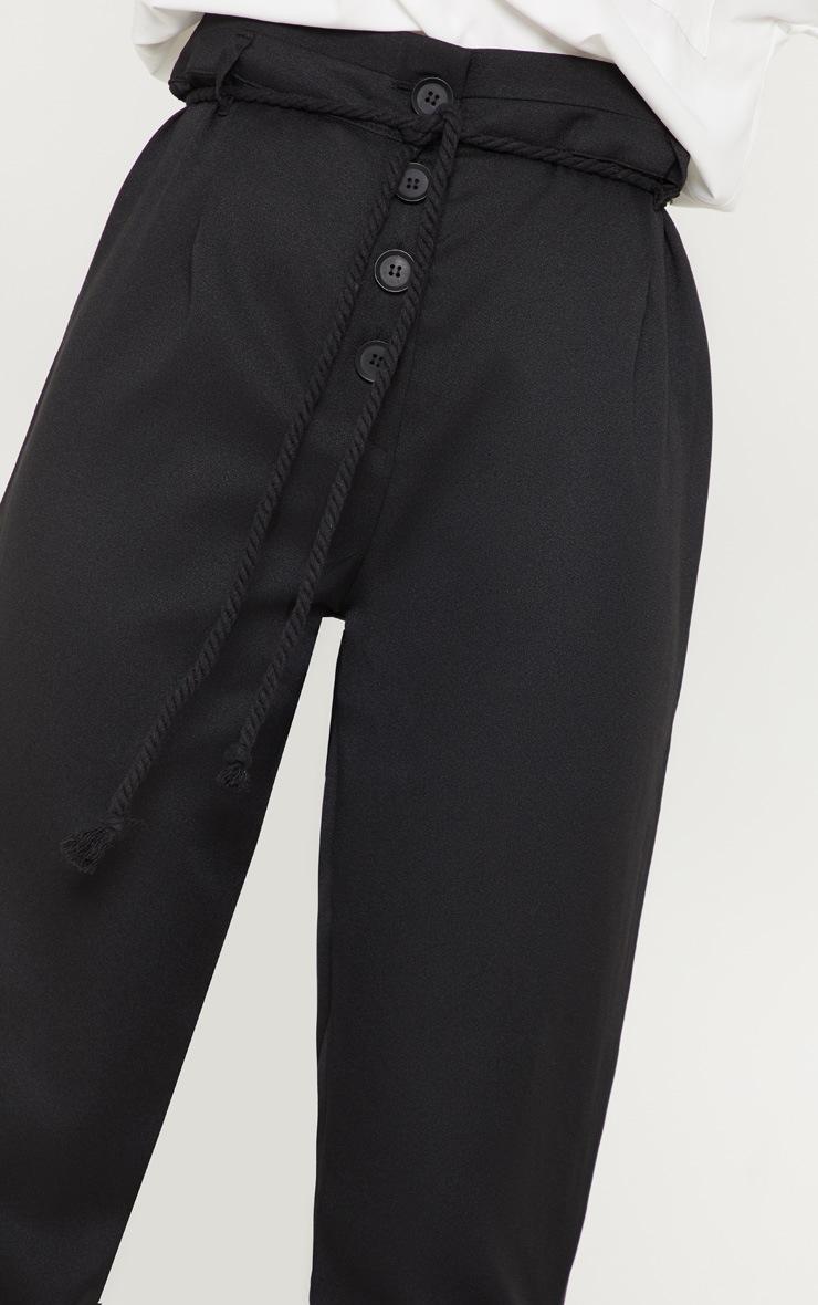 Black Rope Tie Detail Pants 5