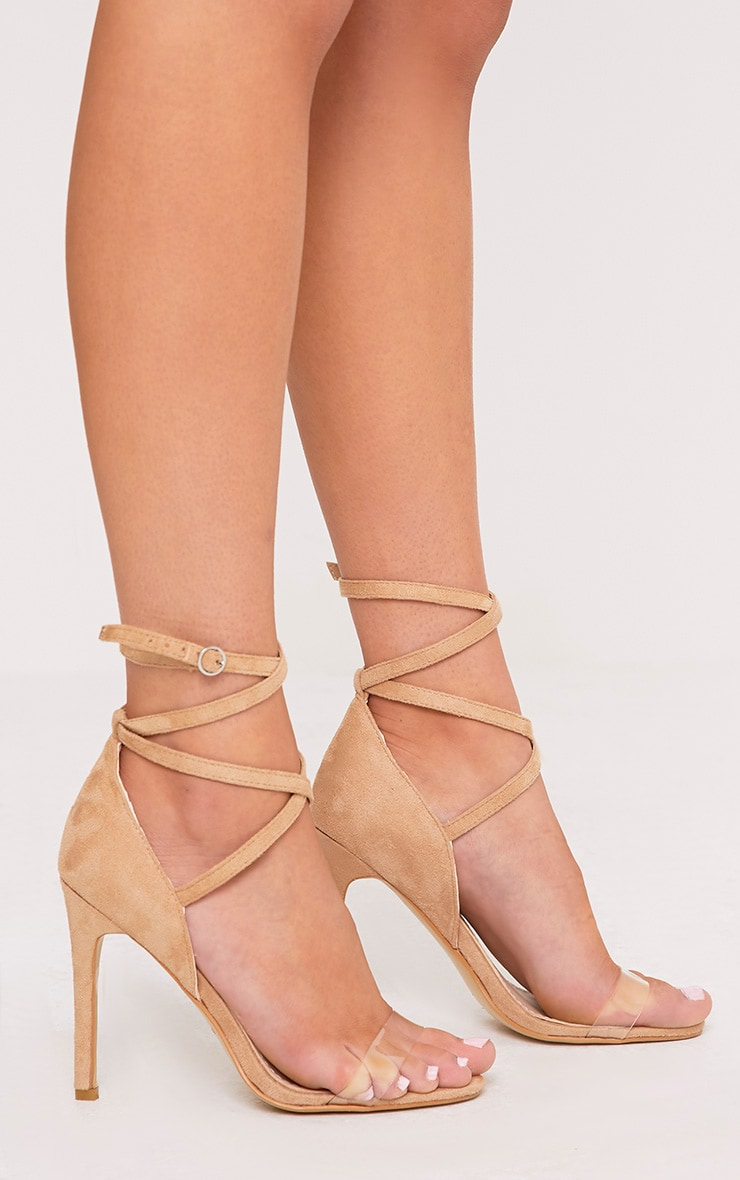 Renice Nude Strappy Heeled Sandals 3