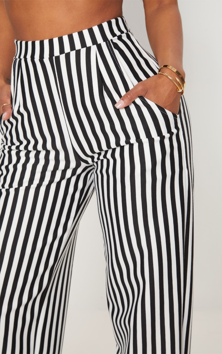 Shape Black Striped Wide Leg Pants 5