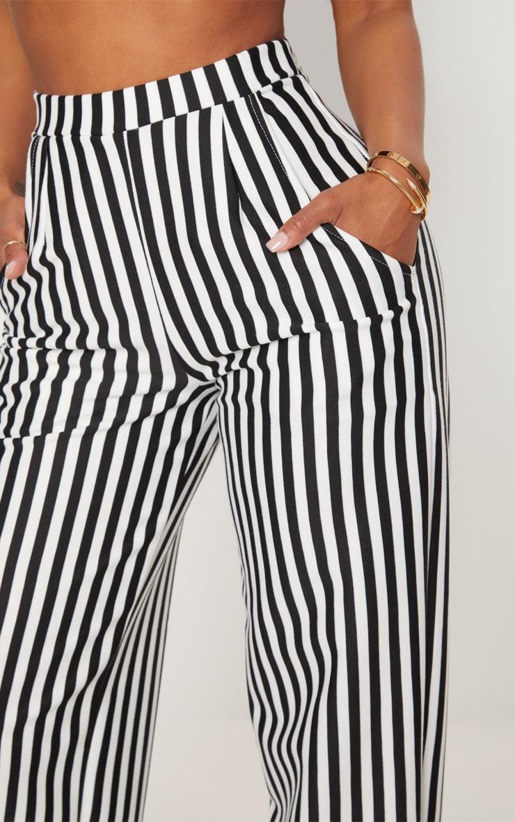 Shape- Pantalon ample rayé noir et blanc 5