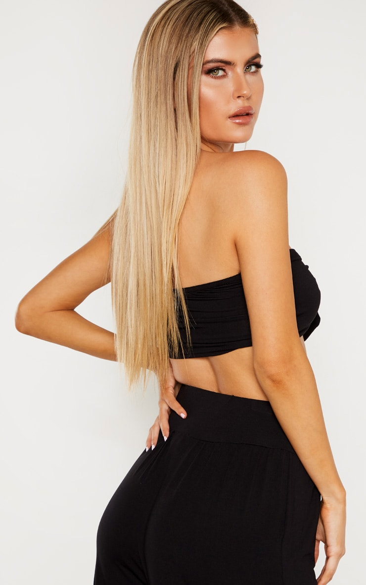 Tall  Black Tie Front Bandeau 2