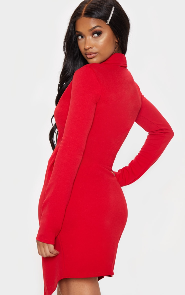 Shape - Robe blazer rouge 2