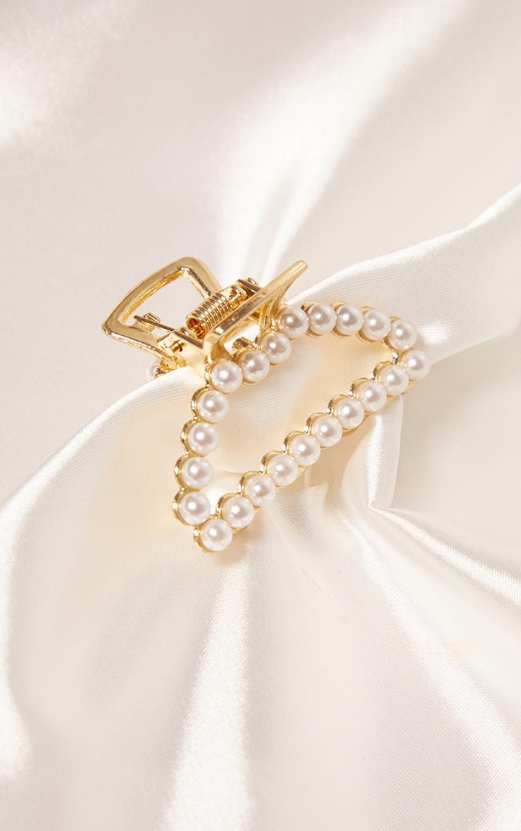 Gold Pearl Mini Hair Clip 1