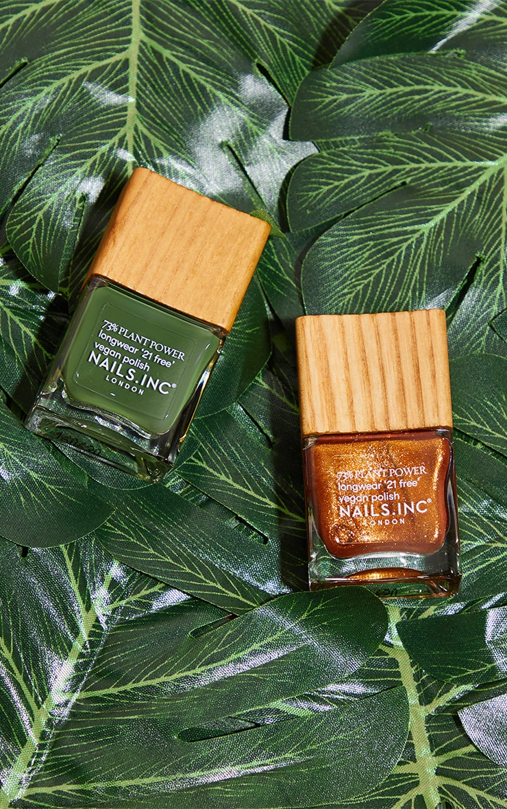 Nails Inc Don't Stop Be-Leafing Duo 1