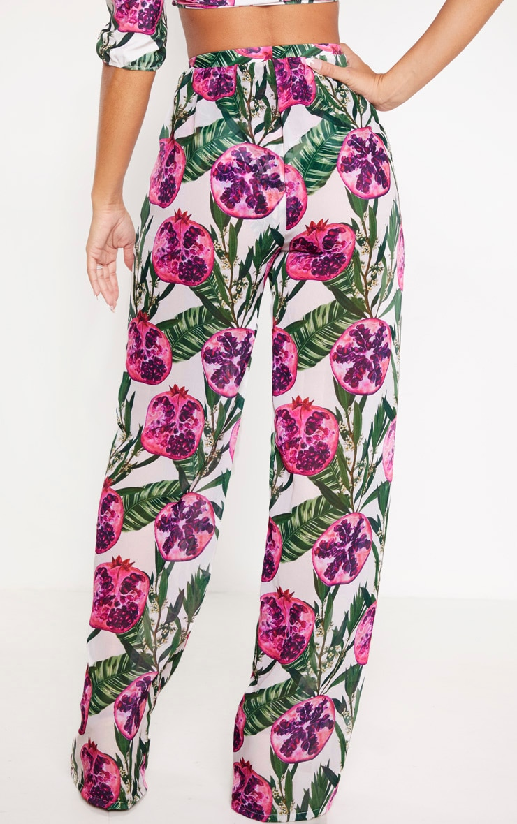 Pink Pomegranate Wide Leg Trousers 4
