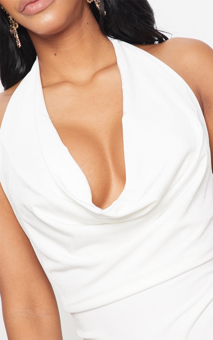 Shape White Slinky Cowl Neck Bodysuit 6