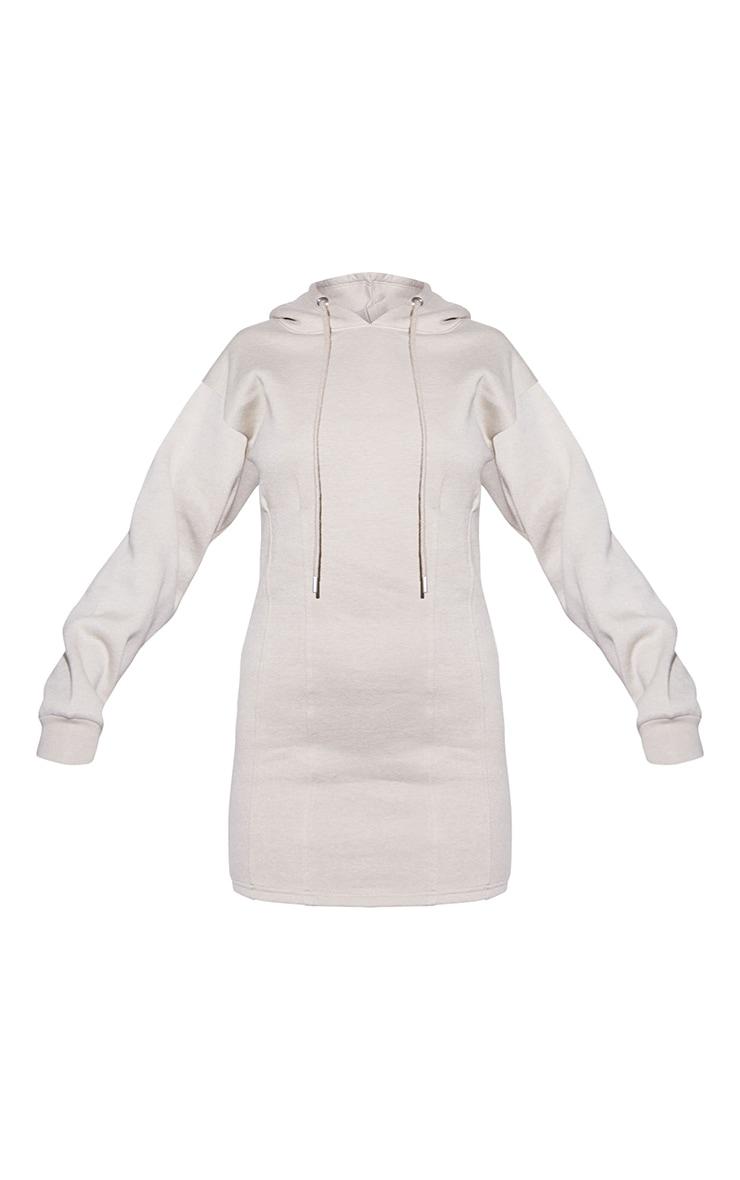 RENEW Beige Pleated Hoodie Sweater Dress 5