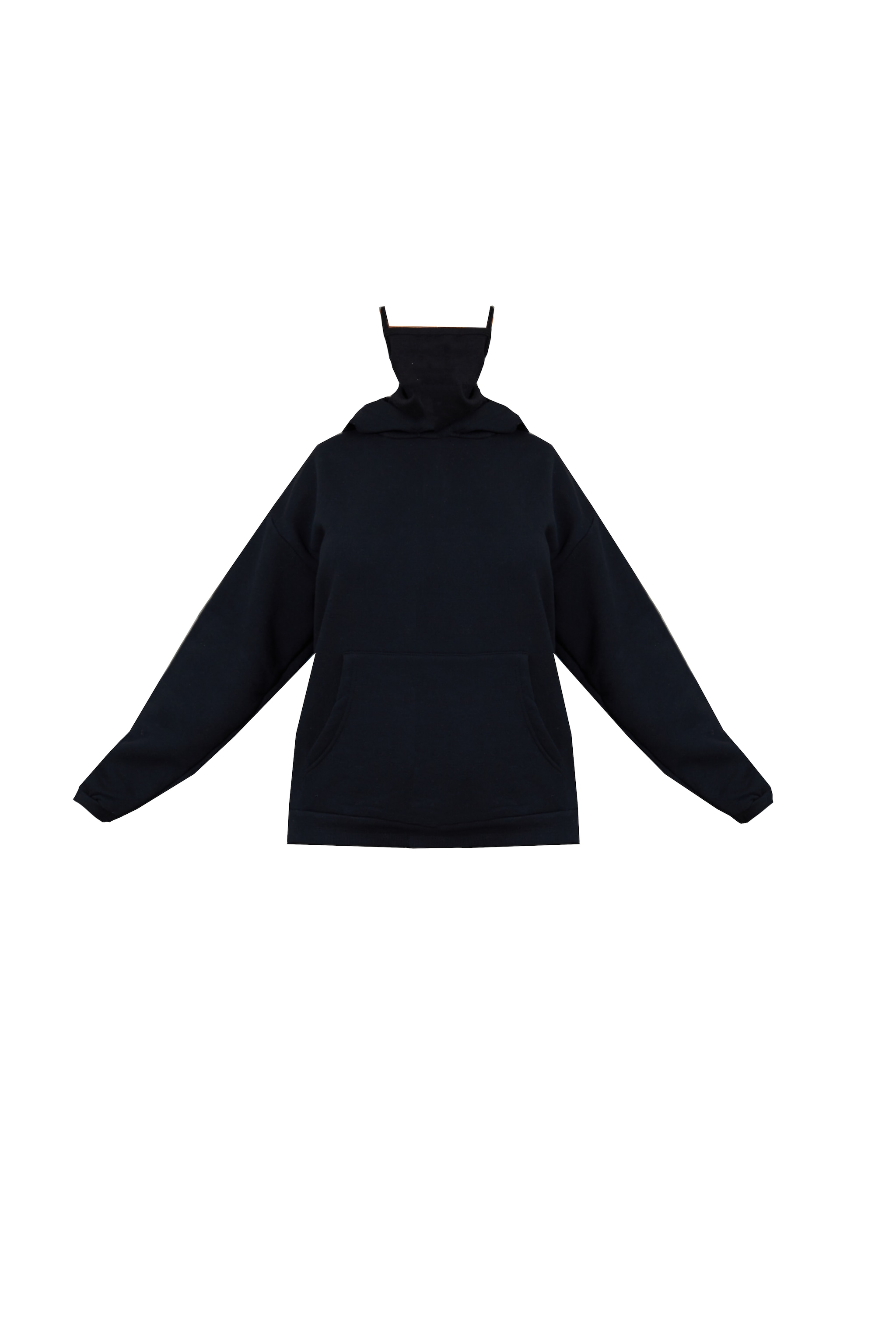 Black Oversized Mask Hoodie 5