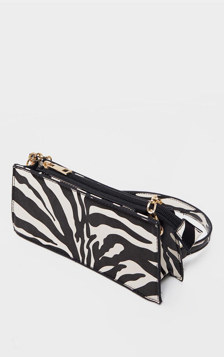 Zebra Chain Handle 90s Shoulder Bag 3