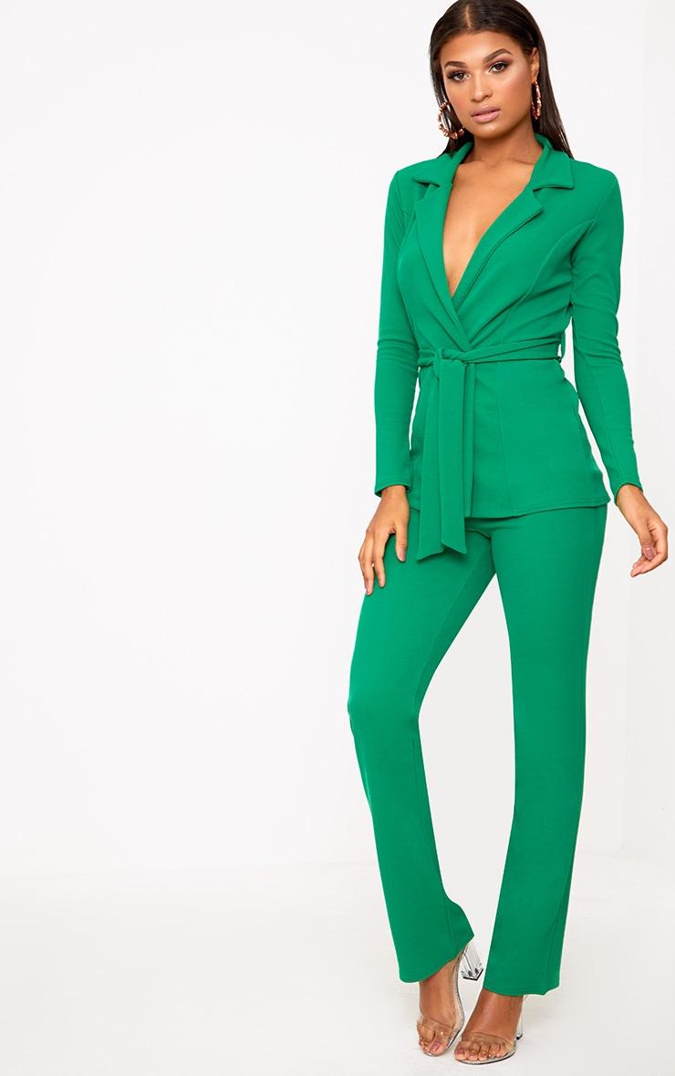 Green Belted Blazer 4
