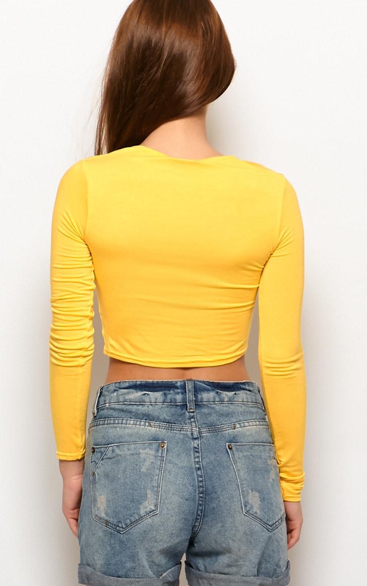 Myla Yellow Long Sleeve Top 2