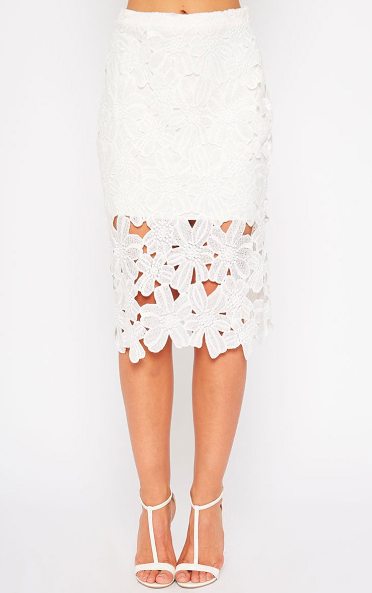 Colleen White Crochet Skirt 2