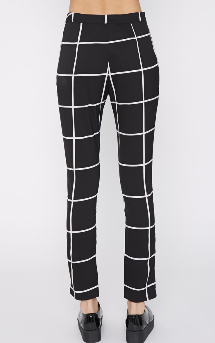 Antonia Monochrome Square Print Trouser 4