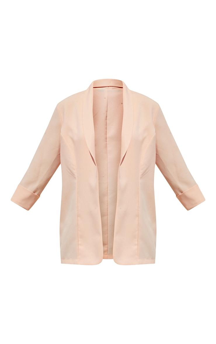Peach Woven Turn Up Sleeve Blazer 5