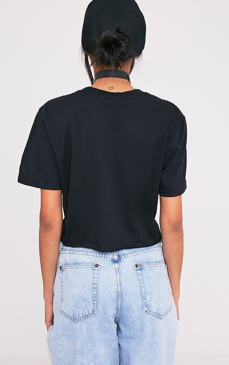 Justin Bieber Black Oversized Crop Top 2