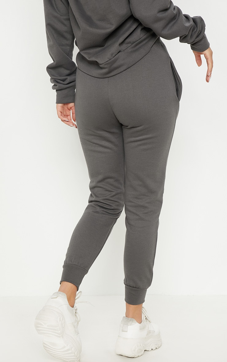 PRETTYLITTLETHING Charcoal Printed Joggers 4