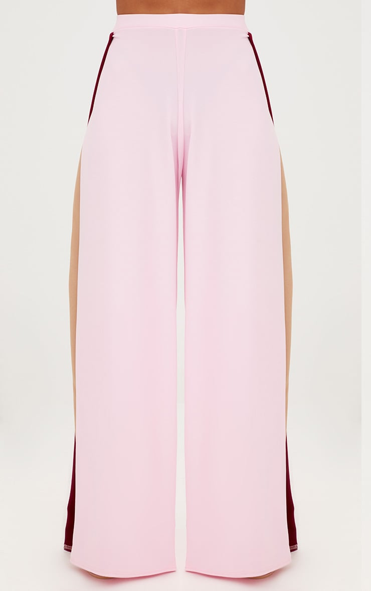 Petite Pink Split Flared Trousers 3