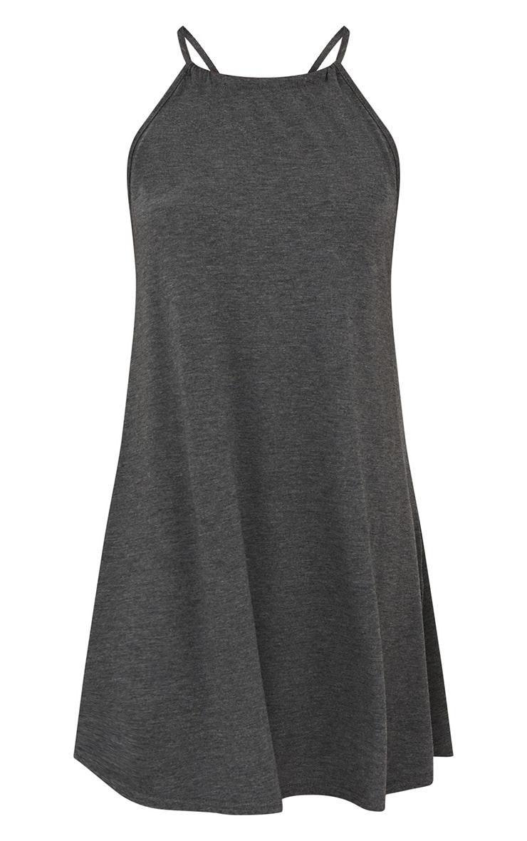 Charcoal Ruched Halterneck Shift Dress 3