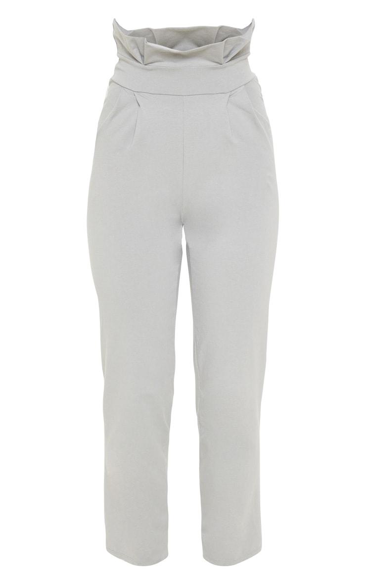 Grey Paperbag Waist Tapered Pants 3