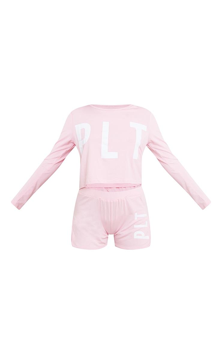 PRETTYLITTLETHING Pink Shorts PJ Set 5
