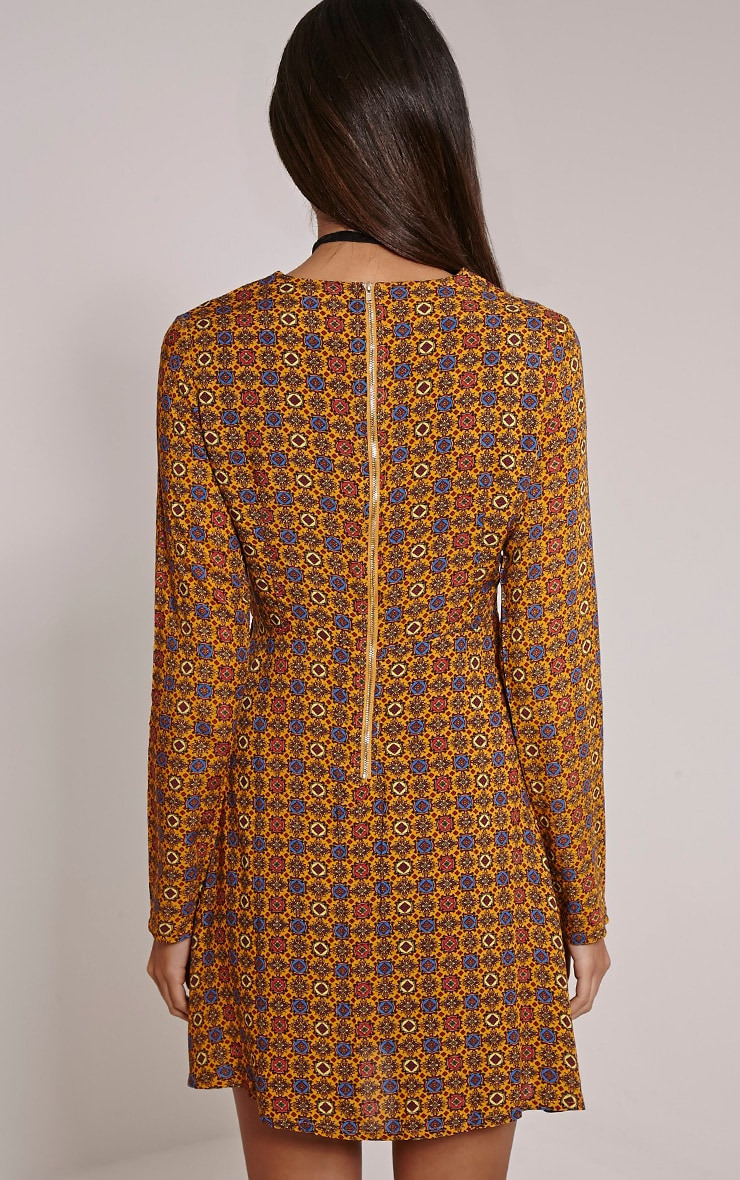 Rylah Orange Tile Print Dress 2