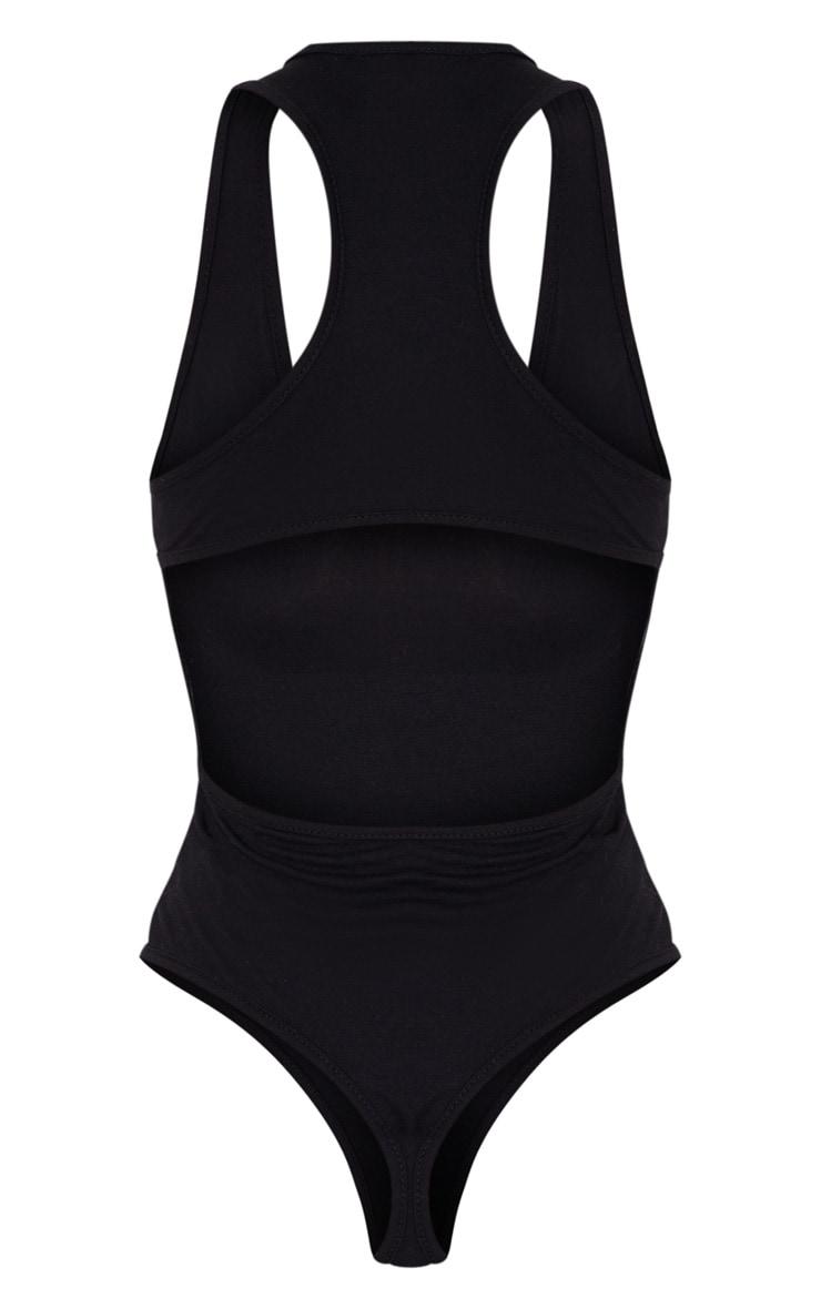 Black Jersey Cut Out Back Bodysuit 7