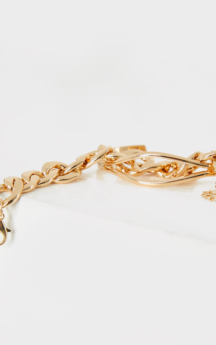 Gold Chunky Chain Assorted Bracelets 3