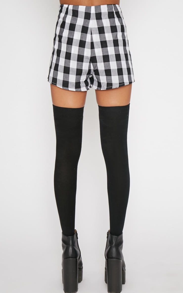 Portia Black Checked Short  4